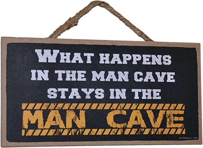 PP3790 WARNING ENTERING JEFFERSON/'S MAN CAVE Chic Sign Home Decor Funny Gift