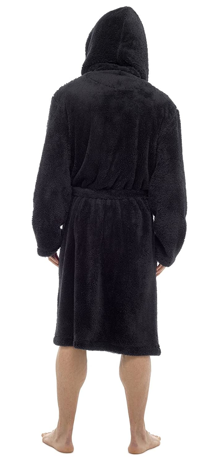 Mens Snuggle Fleece Robe Gift For Him By Toro Rocco/® M L XL Luxury Super Soft Hooded Dressing Gown