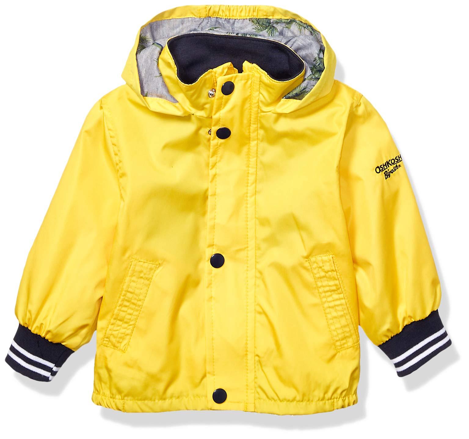 Osh Kosh Boys' Toddler Jersey Lined Bomber Jacket, Yellow, 3T
