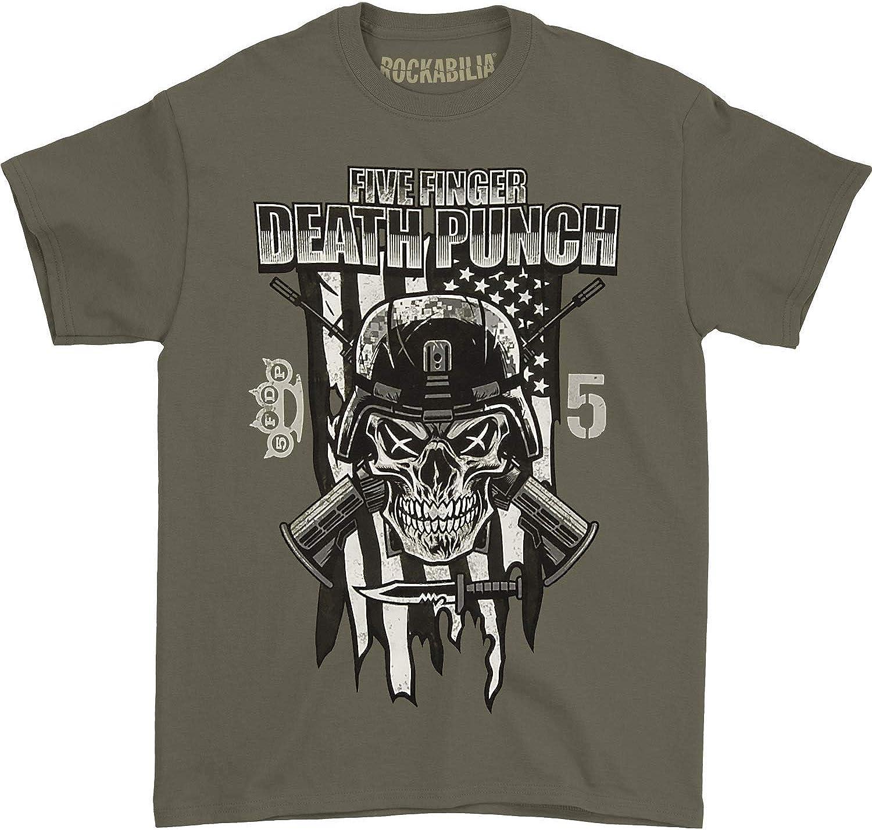 Five Finger Death Punch Men's Infantry Special Forces T-Shirt Olive