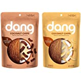 Dang Gluten Free Non-GMO Toasted Coconut Chips 2 Flavor Variety Bundle, 1 Each: Chocolate Sea Salt, and Caramel Sea Salt (2.82-3.17 Ounces)