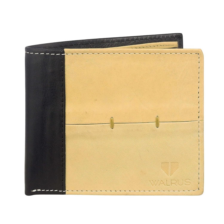 Walrus Tan & Black Men's Wallet (WW-MVK-1602)