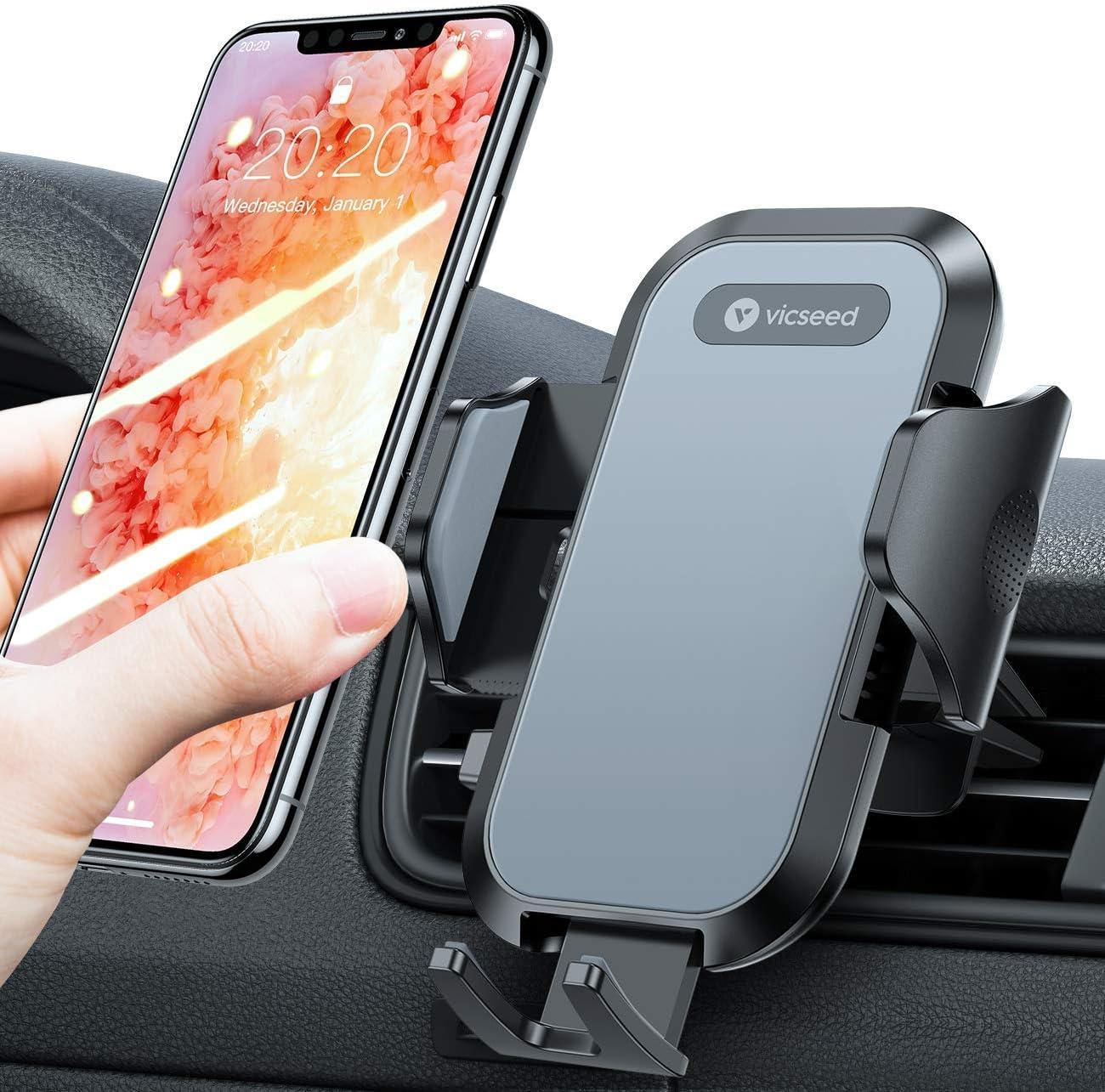 Vicseed Handyhalterung Auto Lüftung Universal 360 Grad Drehung Kfz Autohalterung Für Alle Smartphones Iphone 12 Mini 11 Pro Xs Max Xr X 8 7 6 Plus Samsung S21 S20 S10 S9 S8 S7 Huawei Usw Elektronik