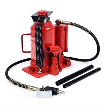 costway 20t ton air and manual hydraulic bottle jack lift heavy duty rh amazon co uk Floor Jack Replacement Parts Lincoln Bottle Jack Parts