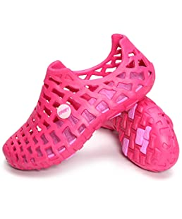 Beach Sandals Casual Mesh Water Shoes Women's Summer Breathable Garden Shoes Hollow Out Casual Pull-On Rose 6 B(M) US
