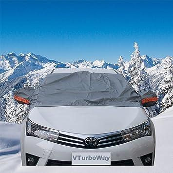 Premium Coche Cubierta de nieve - Parabrisas la cubierta de nieve para automóviles - diseño protege parabrisas limpiaparabrisas y de nieve, hielo, ...