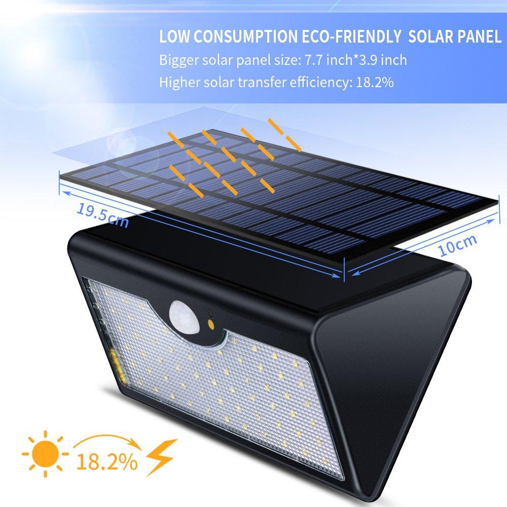 Echtpower 48 Led Solarleuchte Garten Solarlampe Aussenleuchte