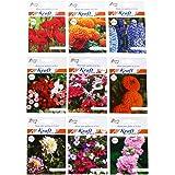 Kraft seeds High Germination 9 Heirloom Varieties Flower Seeds