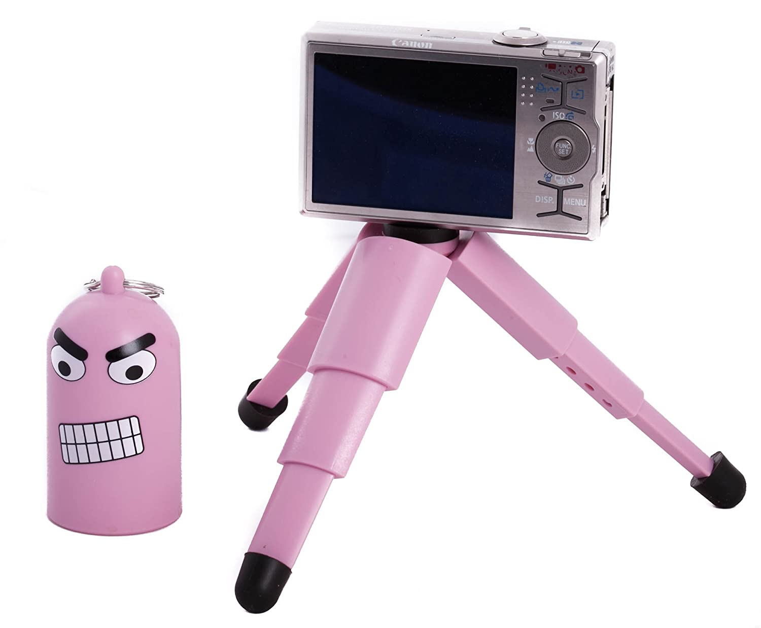 Pink Cartoon Mini Tabletop Adjustable Keychain Tripod for Digital Camera