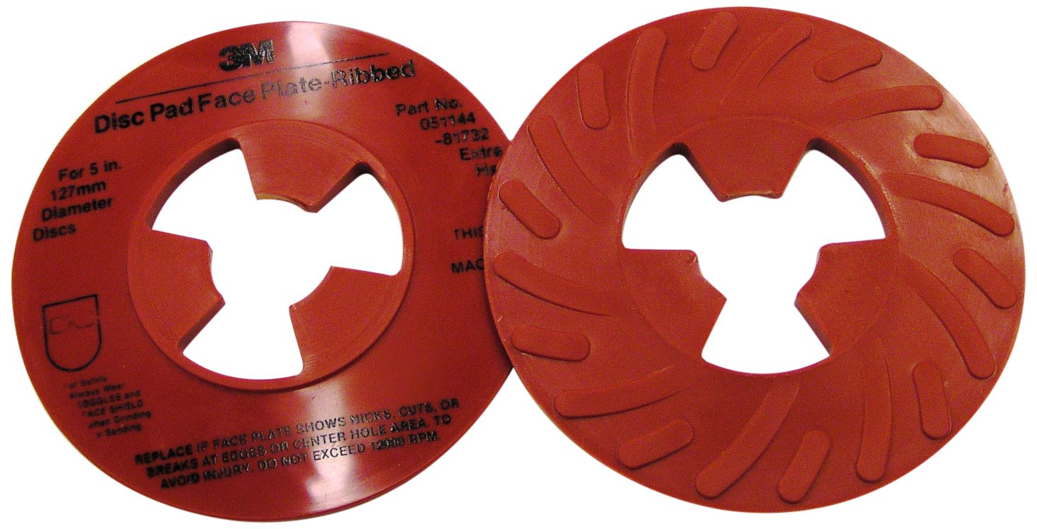 3M Disc Pad Face Plate Ribbed 81732, 5'' Diameter (Pack of 10)