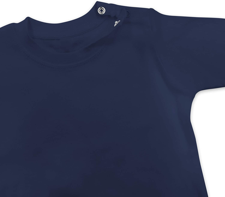 Baby T-Shirt Langarm Shirtracer 1 Geburtstag Baby Geburtstag Zug
