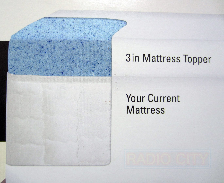 Novaform Gel Memory Foam 3 Inch Mattress Topper - King Size