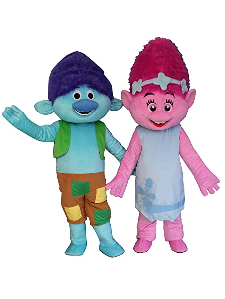 Amazon.com: Trolls rama Poppy dibujos animados disfraz ...