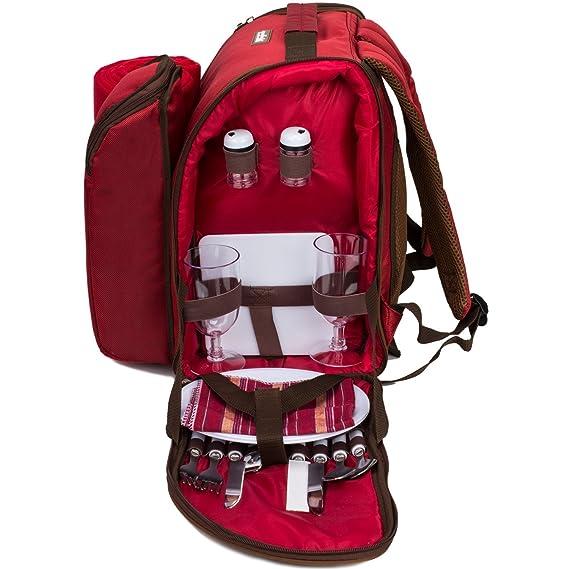 Amazon.com: TAWA APOLLO WALKER - Mochila de picnic para 4 ...