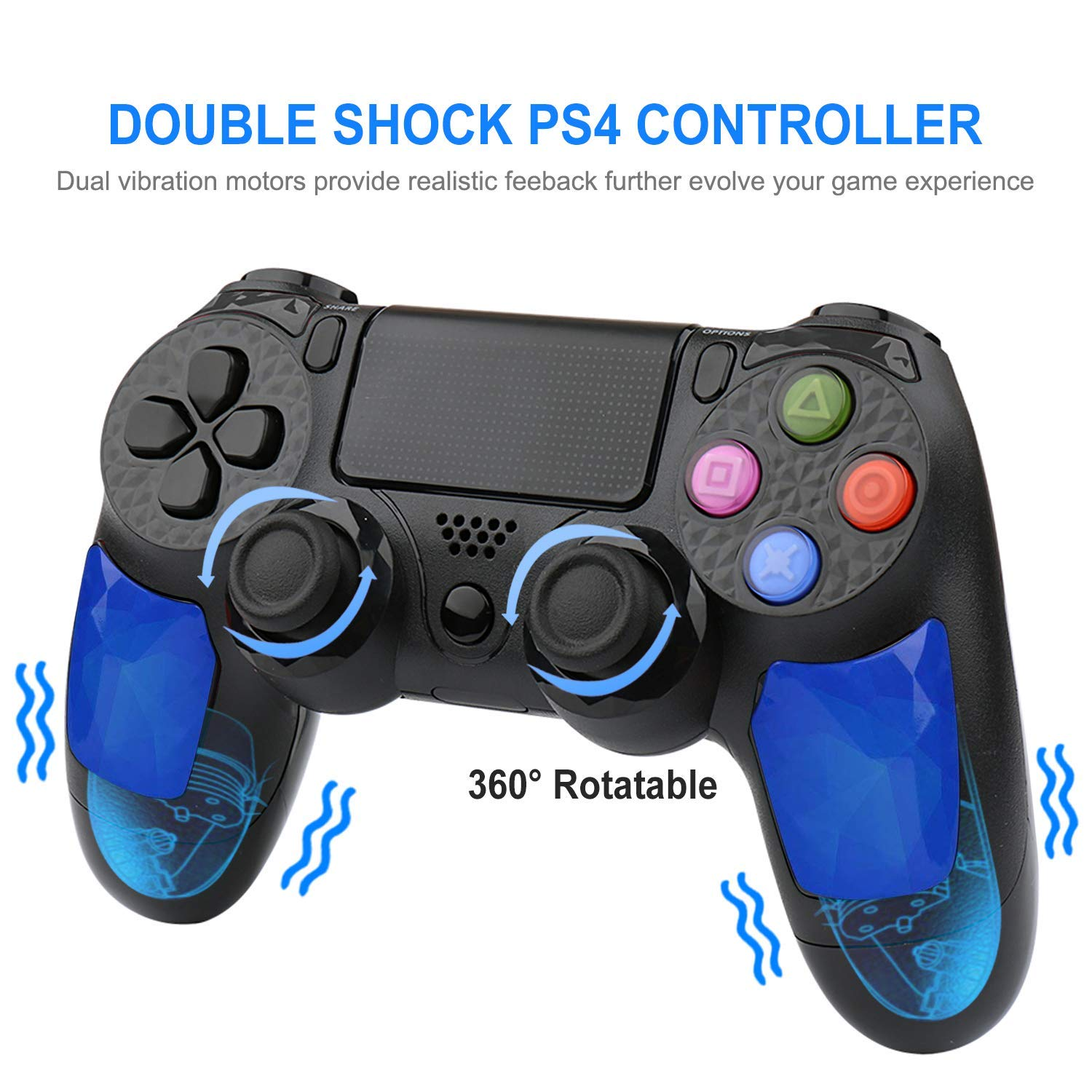 Controller Custodia Protettiva Per Playstation Controller 4 1 Faceplates, Decals & Stickers Gen Blu Consolle With The Best Service