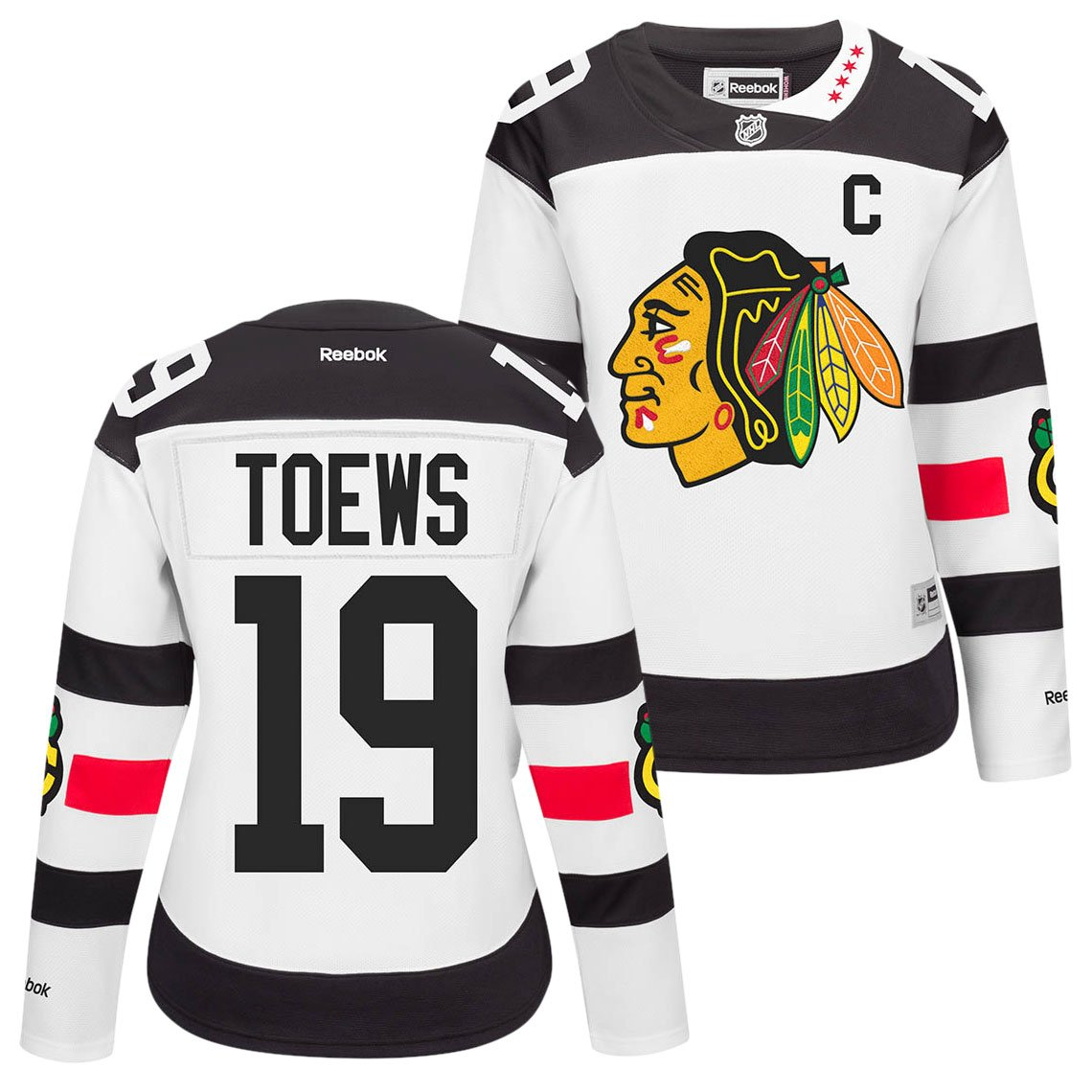 67b8c12a209 Amazon.com : Reebok Jonathan Toews Chicago Blackhawks NHL Womens White  Stadium Series Premier Jersey : Clothing