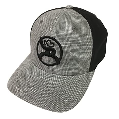 Amazon.com  Hooey Roughy 2.0 Black Gray Flexfit Hat L XL  Pet Supplies 23e1cf24da5