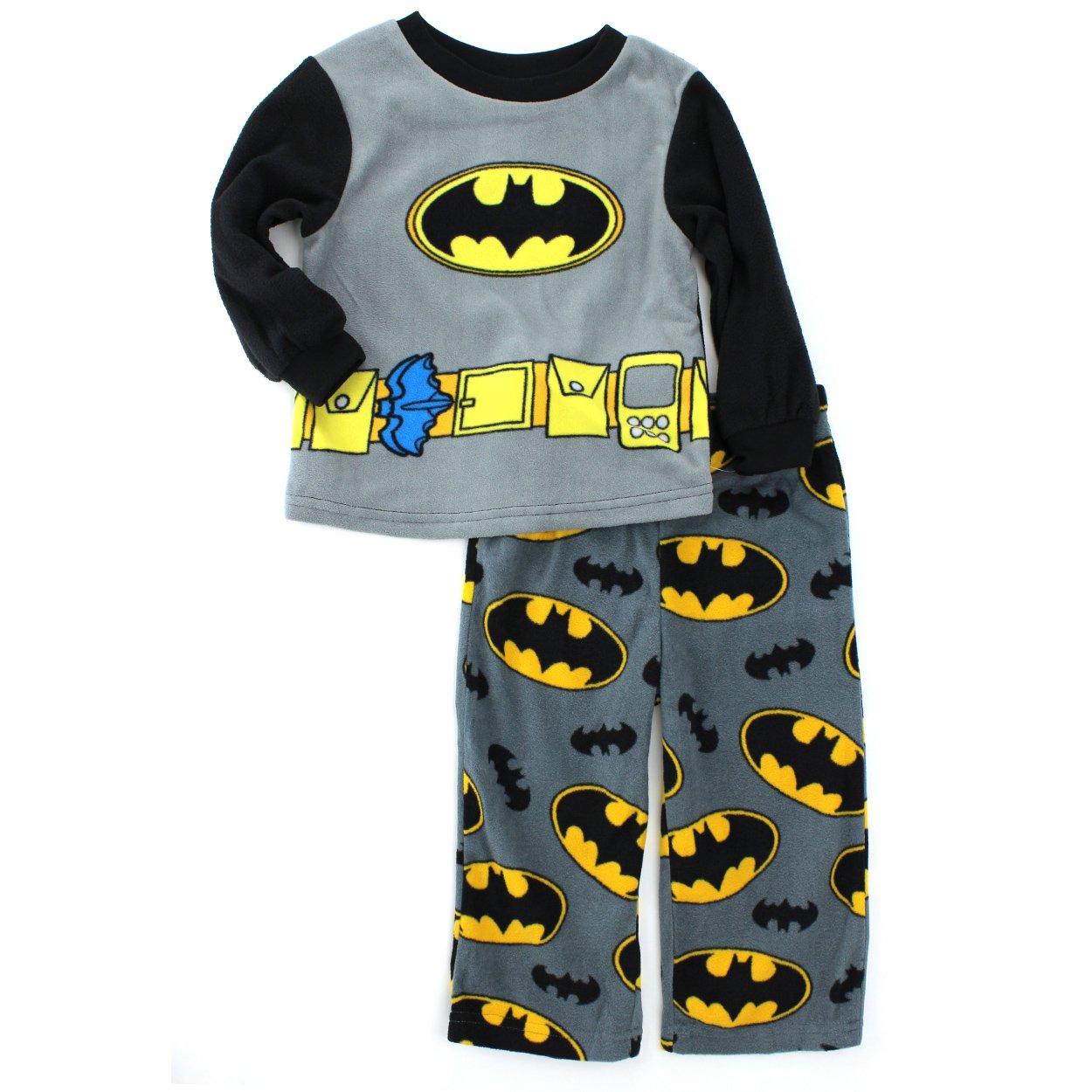Batman Toddler Black Fleece Pajamas