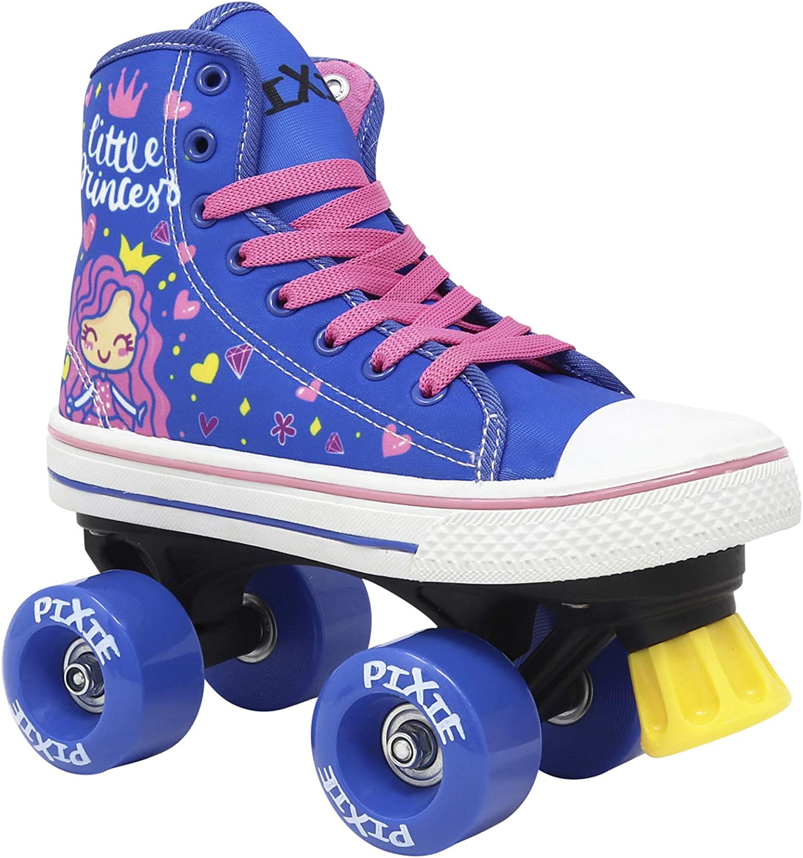 Lenexa Pixie Mermaid High Top Sneaker Style Roller Skates Made for Kids Outdoor Childrens Skate Indoor Great for Beginners Roller Skates for Girls