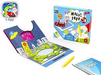 Magic Book 3D - Libro Pizarra Magnética. Creatividad con Lápiz ...