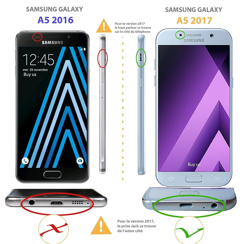 Buyus Coque Samsung Galaxy A5 2017 Housse Luxe Portefeuille Avec Support Video A520 Etui Protecteur Pour Amazonfr High