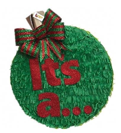 Christmas Gender Reveal Theme.Amazon Com Apinata4u It S A Christmas Gender Reveal Pinata