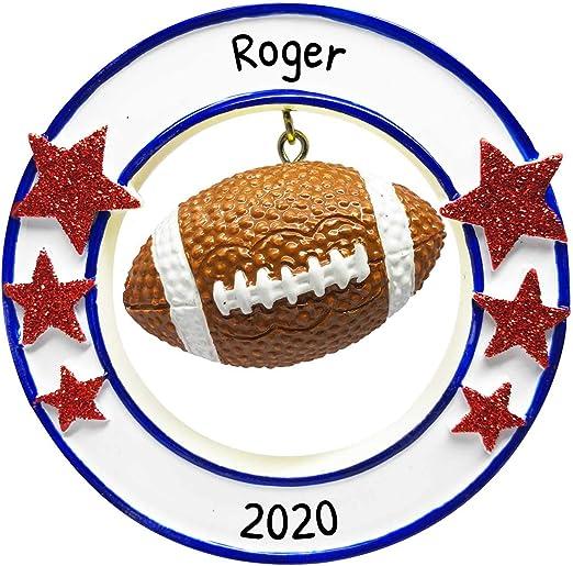 College Football Christmas 2020 Amazon.com: Personalized 3D Football Christmas Tree Ornament 2020