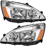 Driver and Passenger Headlights Headlamps Replacement for Honda 33151-SDA-A01 33101-SDA-A01