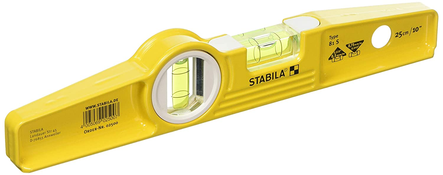 Stabila 81s Level 25cm/10in 1500, without Rare-earth magnet system STB81S10L Boat - Scaffold Levels Hand Tools