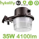 Hykolity 35W Dusk To Dawn LED Barn Light Outdoor Waterproof Yard Light Fixture [300w Equivalent] 4100lm 5000k Daylight Photocell Sensor Included ETL Listed