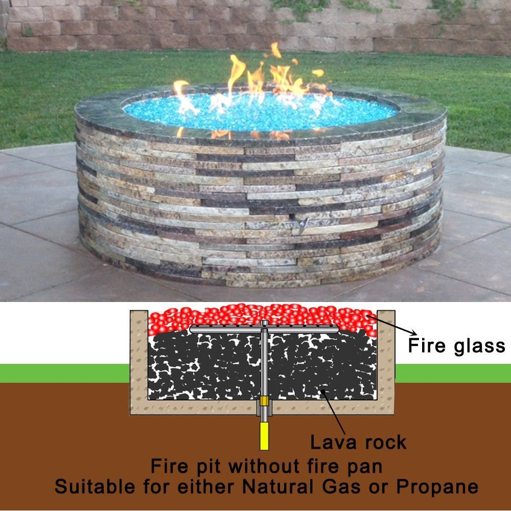 Amazon.com: Earth Star 12 Inches 304 Stainless Steel Propane Fire Pit Ring Burner: Garden & Outdoor