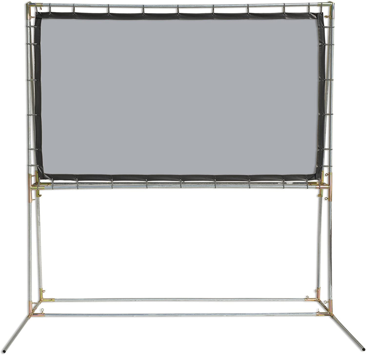 Carl's Blackout Cloth Hanging Projector Screen Kit 6.75x12 White 16:9