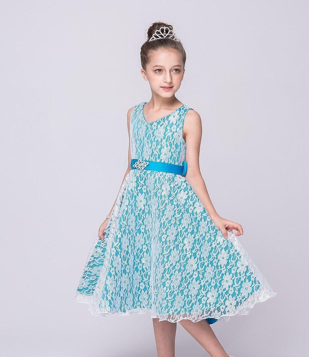 b1e7bfc93 Lo mejor niña Punta pequeño Vestidos de novia boda Vestidos Princesa  Cinturón para vestido de noche redondas Recorte sin mangas Vestido de noche  Moda ...
