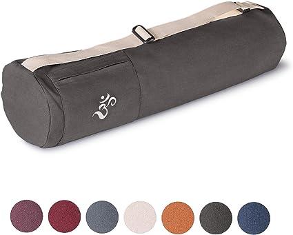 lotuscrafts sac de yoga mysore en coton bio equitable ecologique sac tapis yoga sac pour tapis de yoga accessoires yoga peut contenir