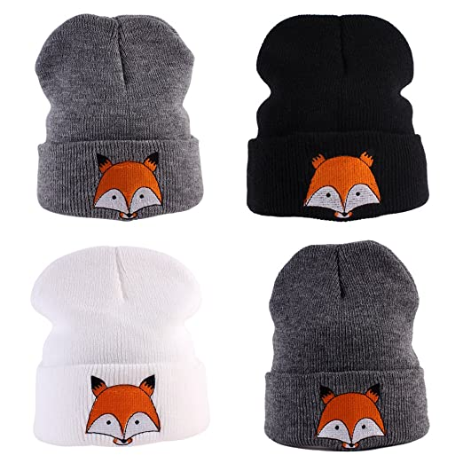 14416ac8d Amazon.com: New Infant Baby Knitted Hat Cute Fox Pattern Nursery ...