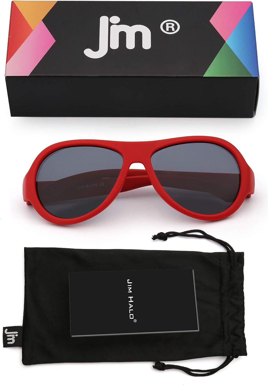 Kids Rubber Polarized Pilot Sunglasses Unbreakable Flexible for Baby Children Girls Boys Age 3-8