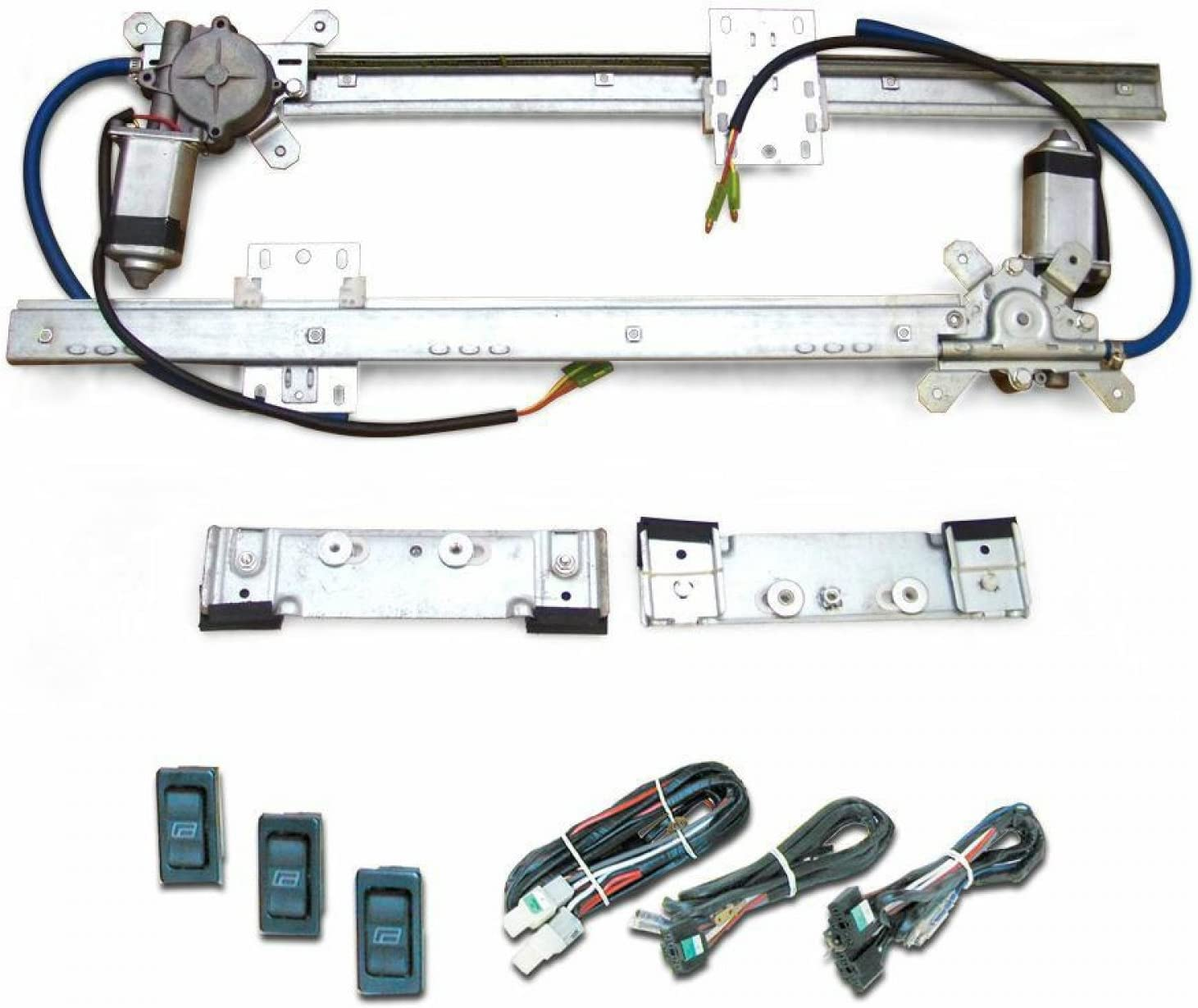 AutoLoc Power Accessories 9849 Flat Power Window Kit with 3 Switches