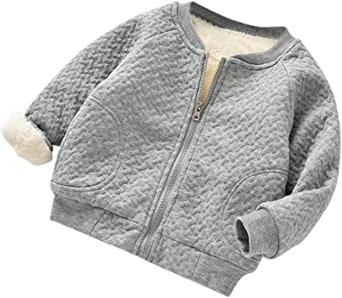 KONFA Toddler Baby Girls Boys Classic Zipper Casual Coat,Suitable for 0-24 Months,Winter Warm Thick Cloak Tops Clothes