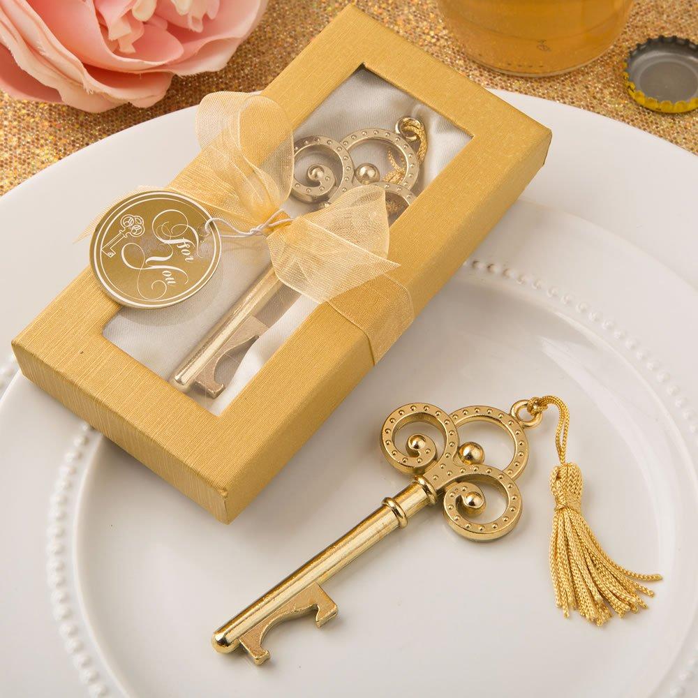 Gold Vintage Skeleton Key Bottle Openers , 100