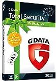 """G DATA Total Security """"Birthday Box"""" für 1 Windows-PC und 2 Android-Geräte / 1 Jahr / Erstklassiger Rundumschutz durch Firewall & Antivirus / Trust in German Sicherheit"""