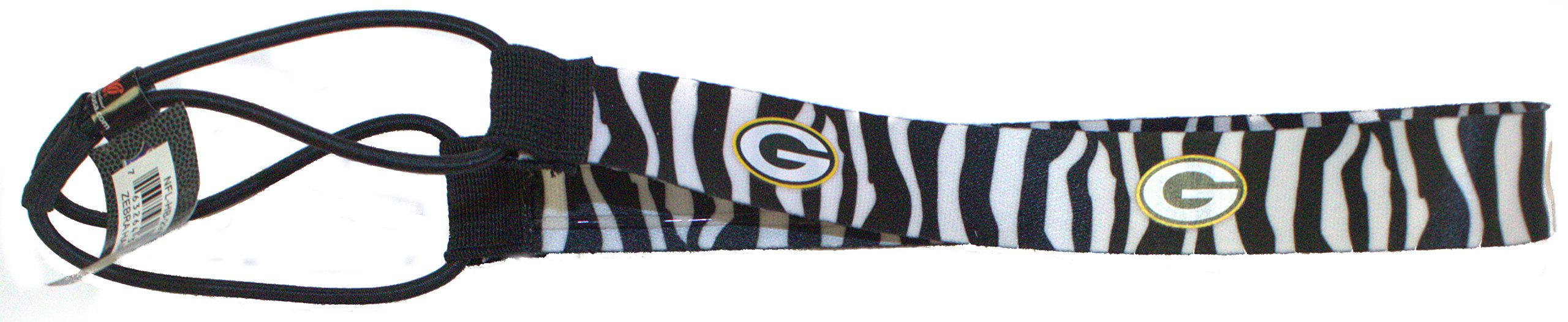 NFL Officially Licensed Green Bay Packers Zebra Striped Headband