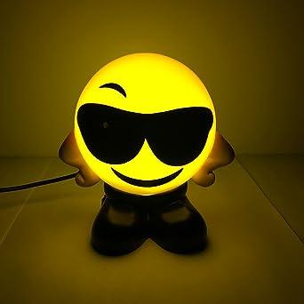 Emoji Usbcolor1 De Smiley Bed Petites Lampes Lamps Led Chevet Face Wuchance Recharge TcuK1JlF3