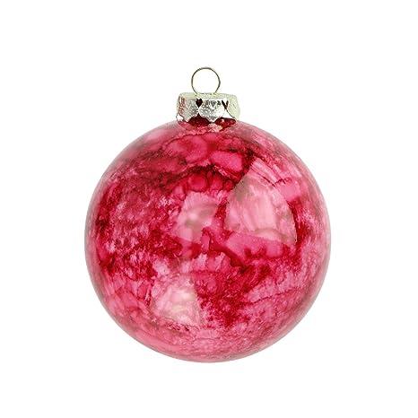 Christmas Ball Ornaments.Amazon Com 4ct Marbled Crimson Red Shatterproof Christmas