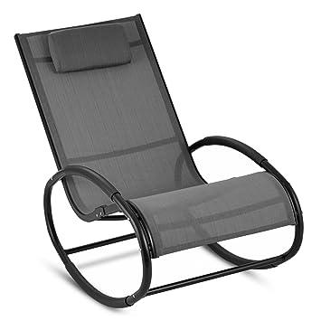 Blumfeldt Bascule En Chair Retiro Caoutchouc Rocking À Relaxant Aluminium Coussin AccoudoirsSurface Appuie Sur Fauteuil Avec Têteprotection Iybf76mYgv