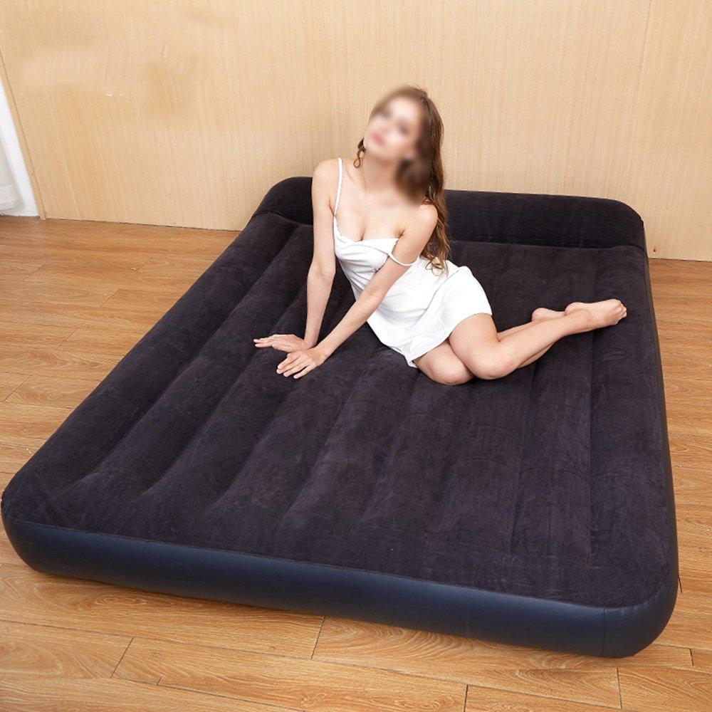 HPLL Aufblasbares Bett im Freien tragbares aufblasbares Bett-einzelnes Ausgangsluft-Bett-doppeltes starkes Luft-Bett, das einfach ist, aufblasbares Bett zu falten