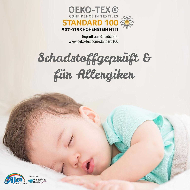 Design:silbergrau Alvi Baby M/äxchen Innensack Gr/ö/ße:50 Ganzjahres-Kinder-Schlafsack