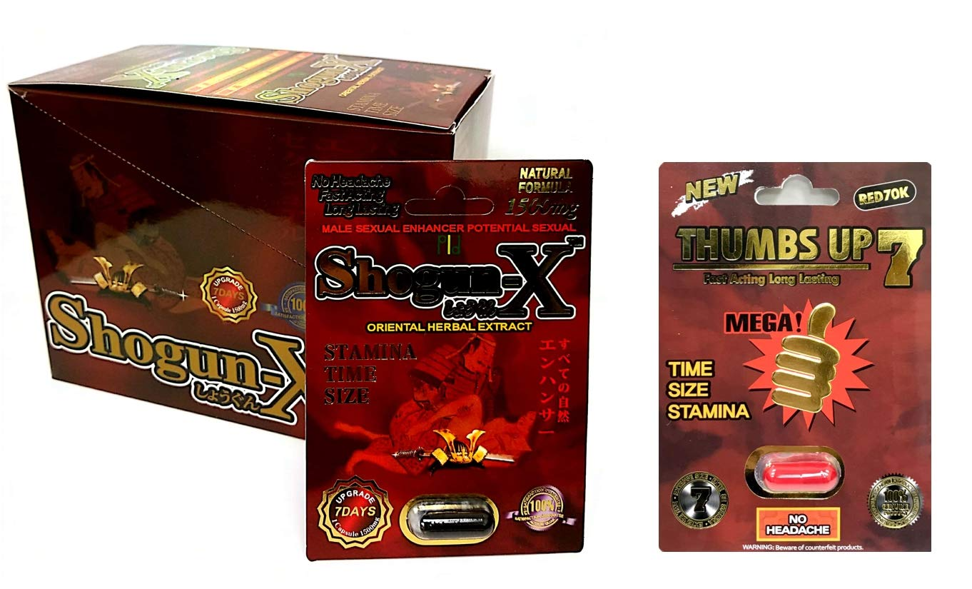 New Shogun X 15000 mg 24 Pills in The Box Thumbs Up Red 1 Pill Best Fast-Acting Male Enhancing Pills by SUM MARKETING LLC