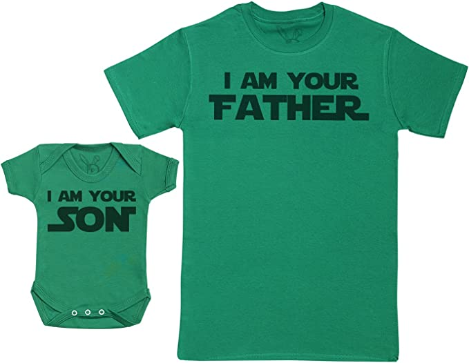 Baby Gift Set with Baby Bodysuit /& Fathers T-Shirt Like Son with Like Father