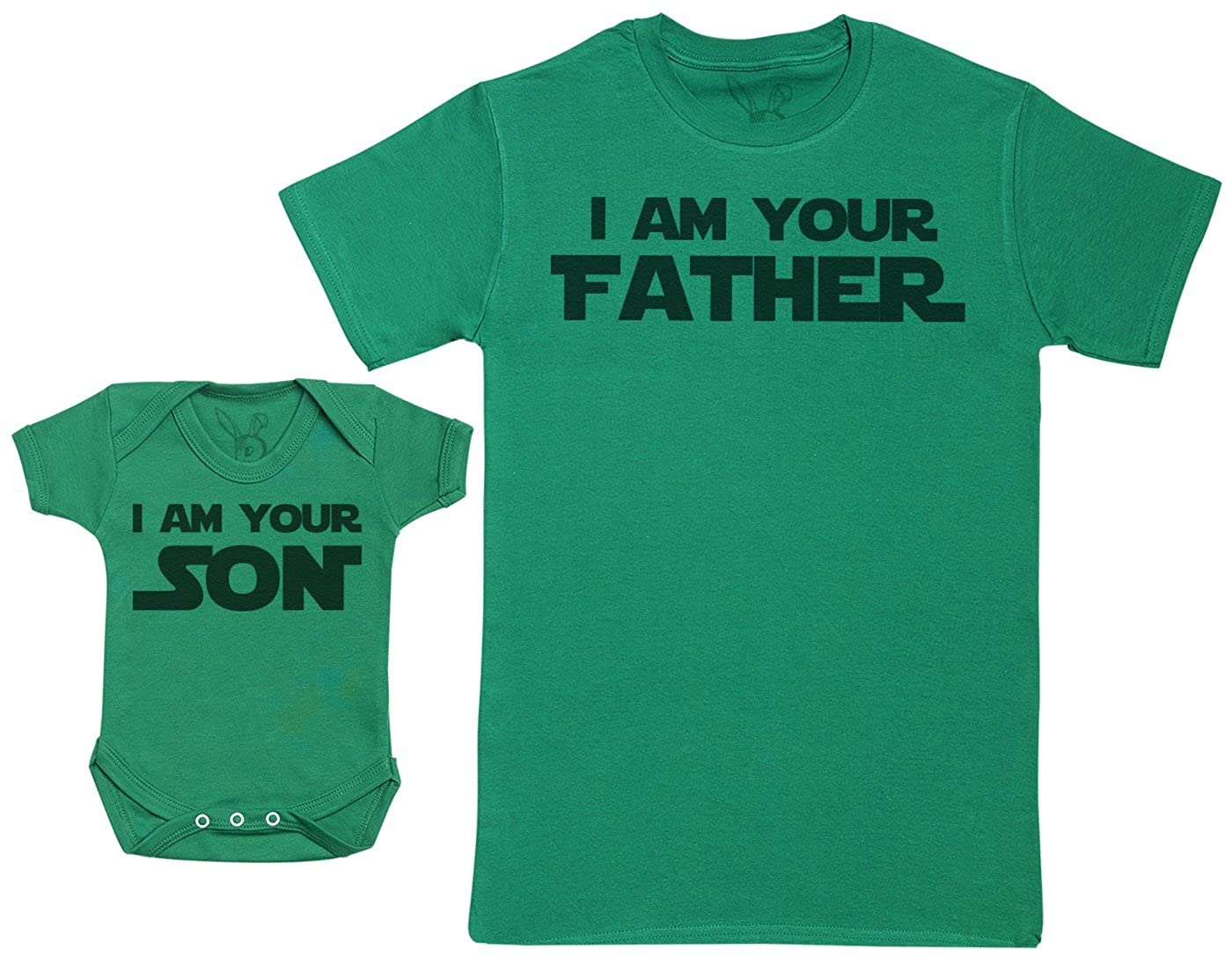 Baby Gift Set with Baby Bodysuit /& Fathers T-Shirt Zarlivia Clothing I Am Your Son /& I Am Your Father