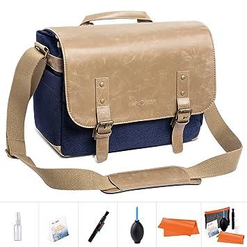 K&F Concept - Bolsa Bandolera para Cámara DSLR Mochila Fotográfica Bolsa de Hombro (1 cámara + 2 Lentes + 10